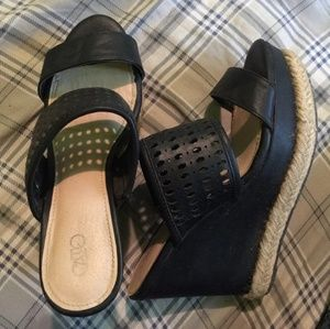 Black Cato Wedges